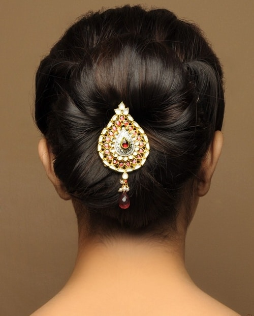 Indian Wedding Hairstyles Pictures: Indian Bridal Bun Hairstyles