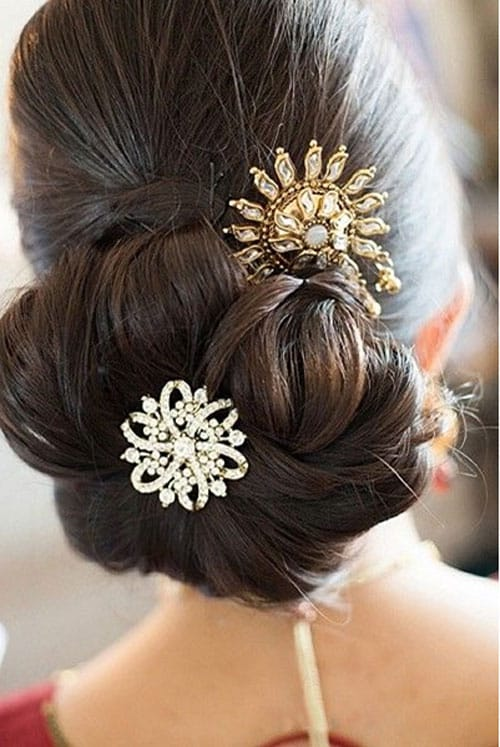 wedding hair buns styles indian bridal bun hairstyles indian tips 4831