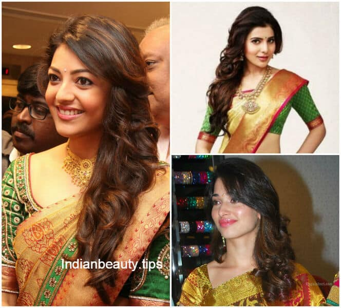 Hairstyles For Curly Hair With Saree : Best hairstyles for traditional sarees indian beauty tips