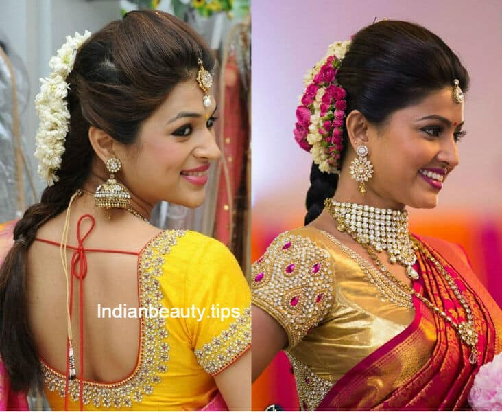 Stupendous 10 Best Hairstyles For Traditional Sarees Indian Beauty Tips Short Hairstyles Gunalazisus