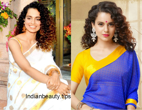 curly_hairstyles_for_sarees