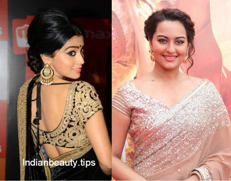 Hairstyles For Mehndi Party : 12 best hairstyles for party wear sarees indian beauty tips