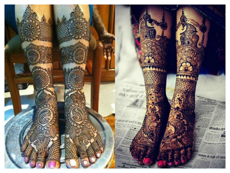 Mehndi Legs Images : Mehndi designs for feet