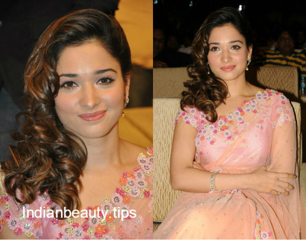 tamanna_curly_hairstyles_with_saree