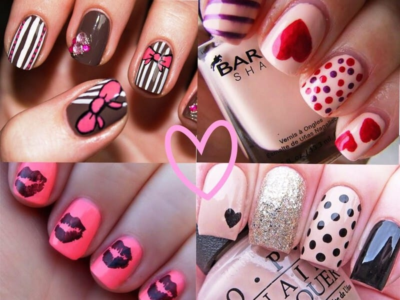 22 Lovely Nail Art Designs For Valentine\'s Day 2015 - Indian Beauty Tips