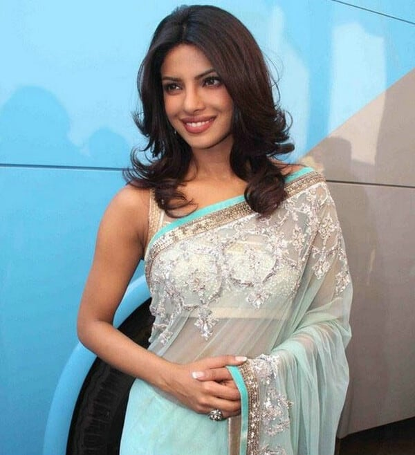 Priyanka Chopra Hairstyles with Indian Outfits - Indian Beauty Tips