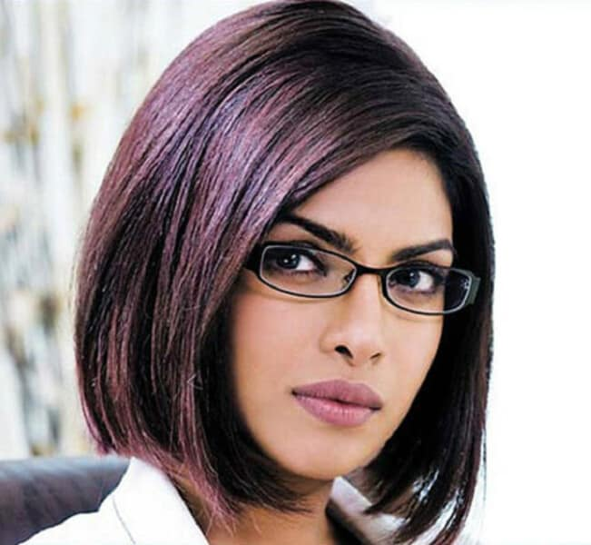 Trendy hairstyles for short hair indian beauty tips sonakshis straight short brown hair with red highlights priyankachoprastraighthairstyle urmus Gallery