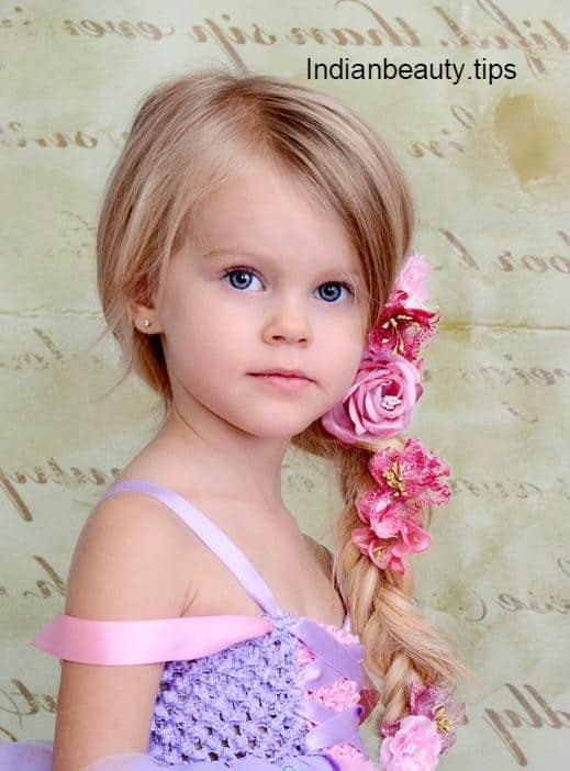 Hairstyles For Indian Kid Girl : Cute Flower Hairstyles for Kids - Indian Beauty Tips