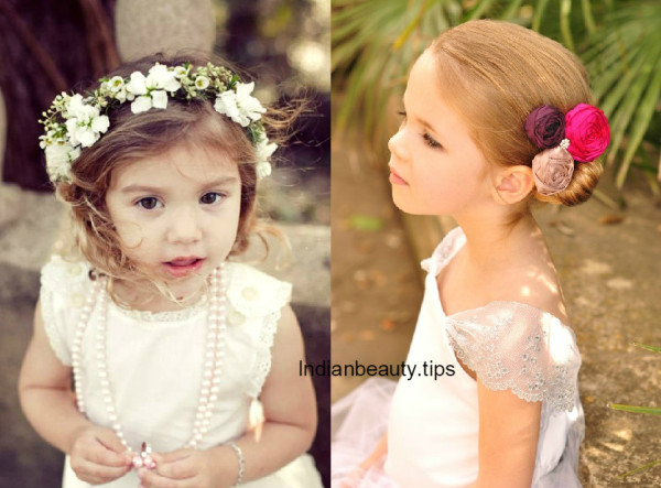 Cute Flower Hairstyles for Kids - Indian Beauty Tips