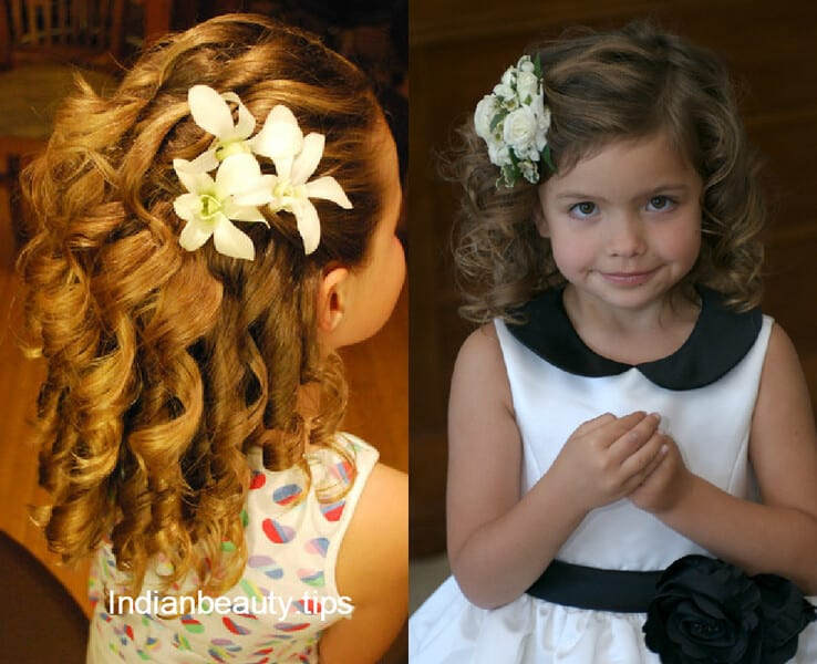 cute flower hairstyles for kids indian beauty tips