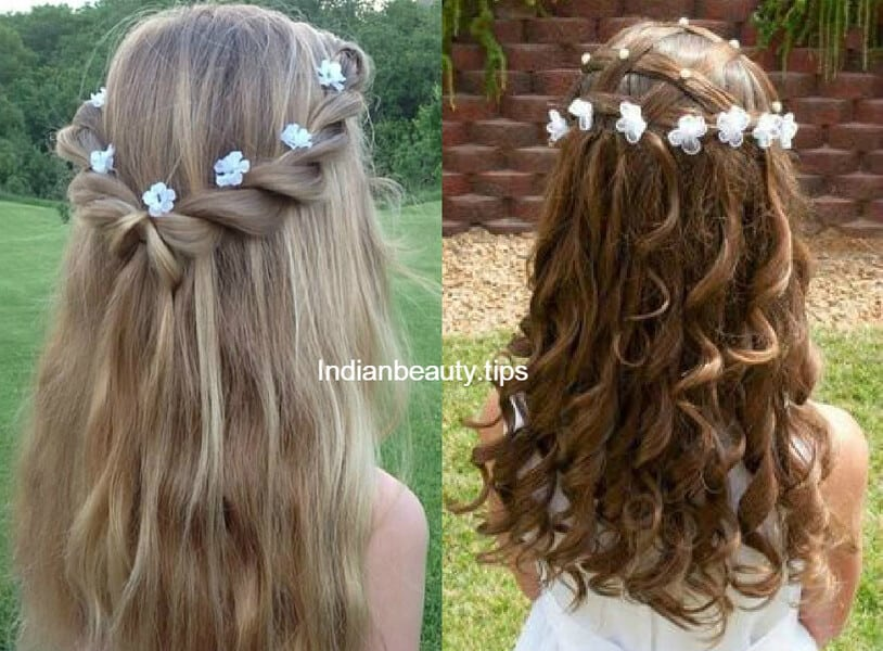 Cute Flower Hairstyles For Kids