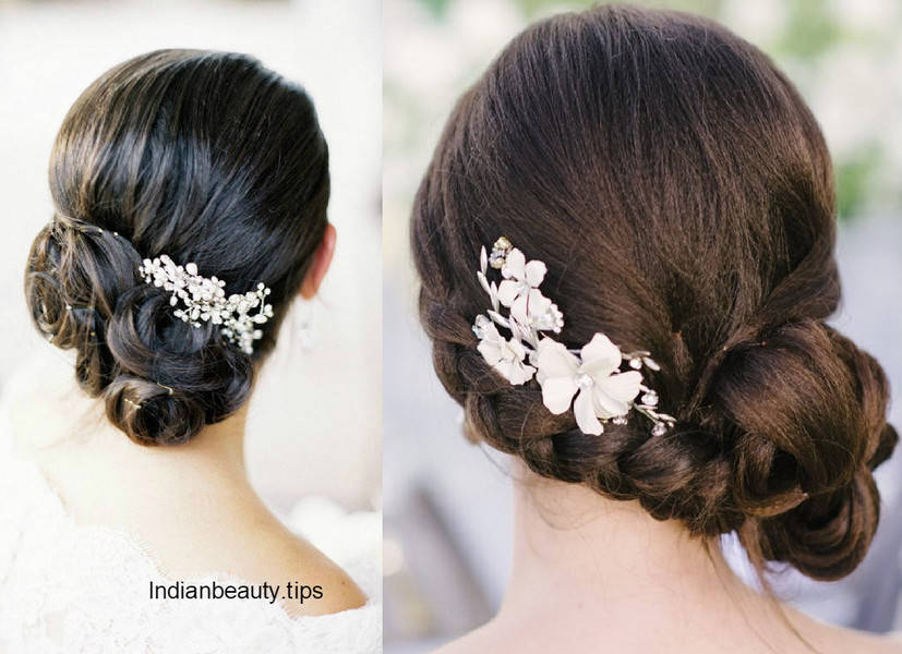 30 elegant bridal updo hairstyles - indian beauty tips