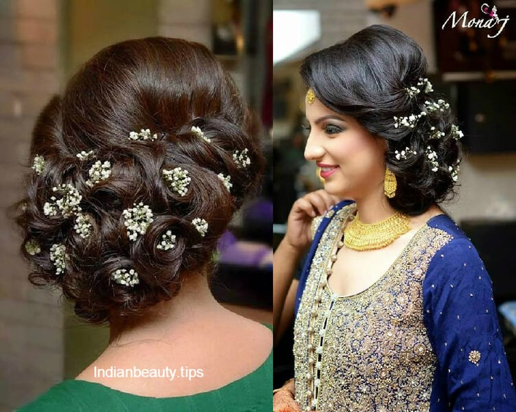 Mehndi Hairstyles For Brides : Elegant bridal updo hairstyles indian beauty tips