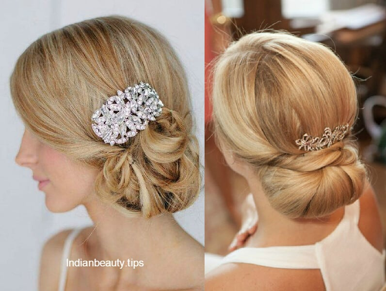 30 elegant bridal updo hairstyles indian beauty tips. Black Bedroom Furniture Sets. Home Design Ideas
