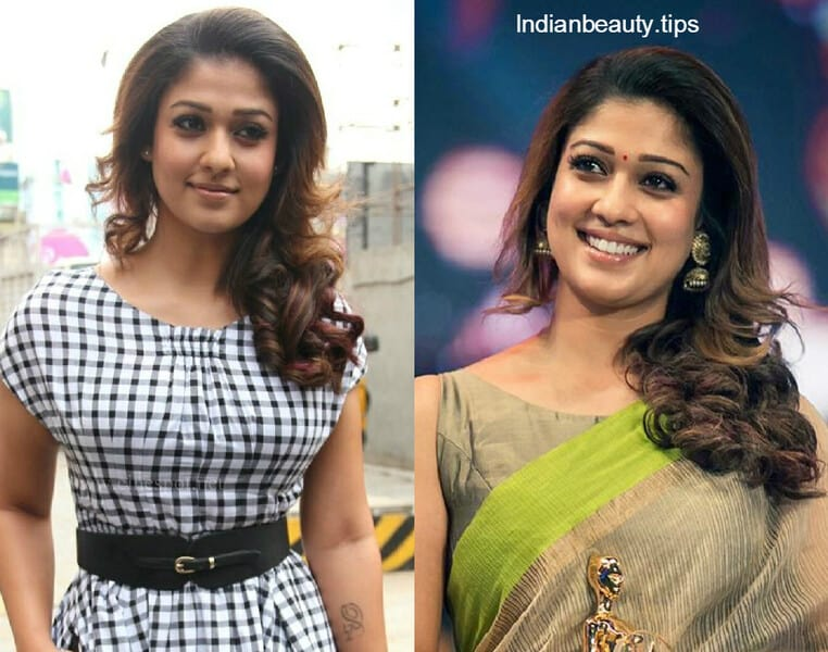 Actress Nayanthara Hairstyles Indian Beauty Tips