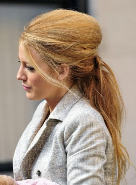 beehive ponytail blake lively