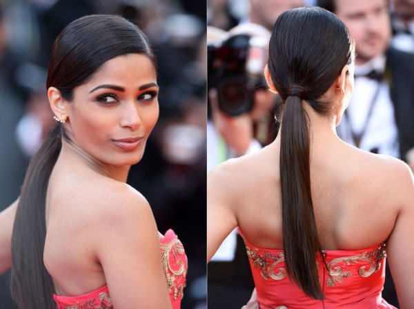 freida_pinto_low_sleek_ponytail