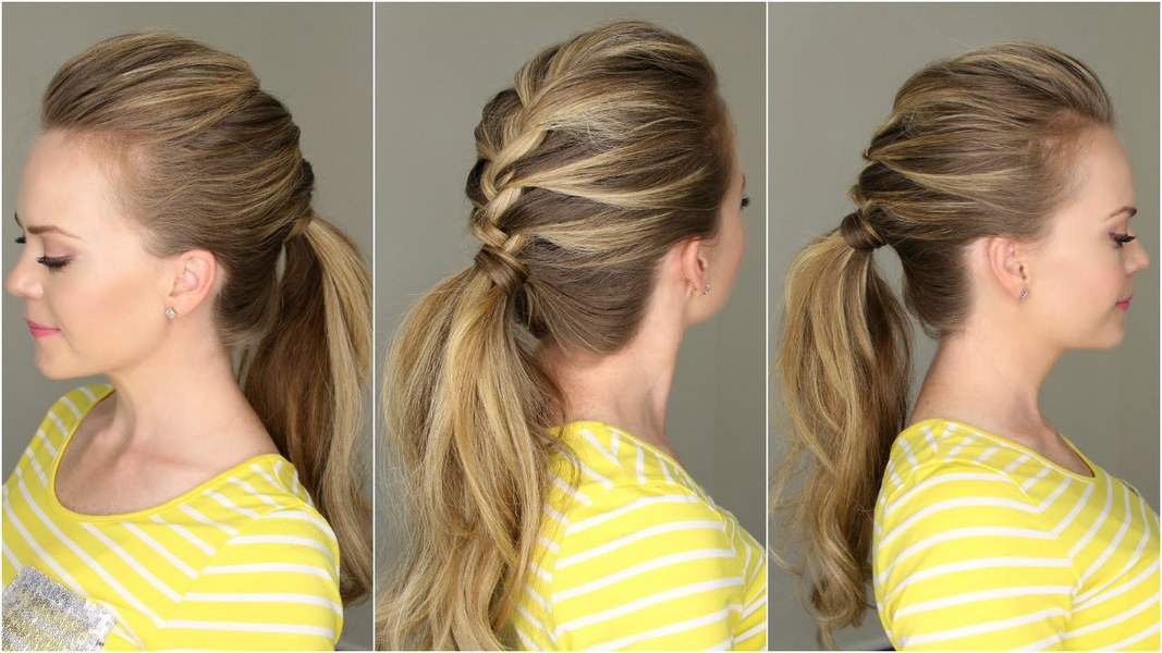 French braiding tips - French Braid Pony