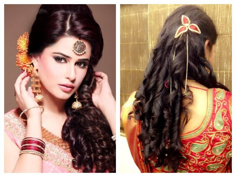 Bridal Indian hairstyles for saree new photo